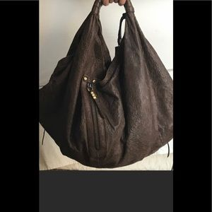 Or YANY  XL  brown leather hobo bag